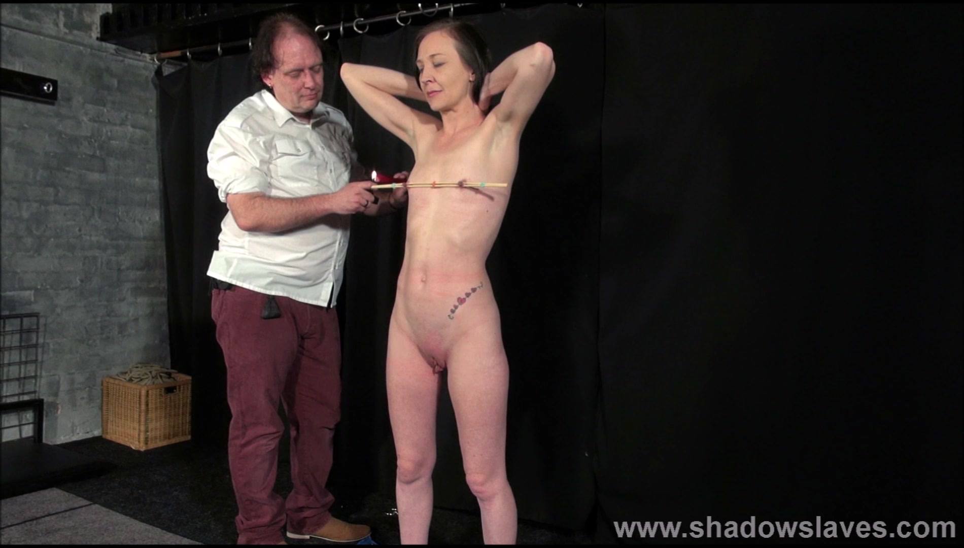 Obedience Porn Tube candle wax bdsm and obedience slave training