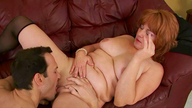 Older redhead gets her seasoned snatch licked and screwed