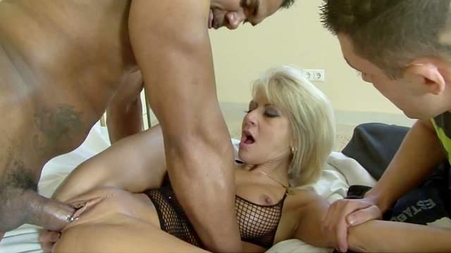 Blonde wife shared in cuckold XXX