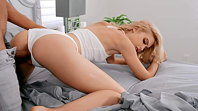 Doggy orgasms make hot blonde want another round